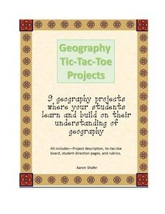 An engaging set of projects where your students will be able to select the projects of their choice.   This tic-tac-toe project allows students to choose 3 projects they wish to complete on a range of geography topics like landforms and latitude/longitude.