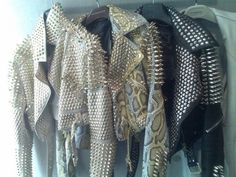 Studs leather biker jackets for punk princess
