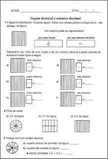 Fração decimal e número decimal