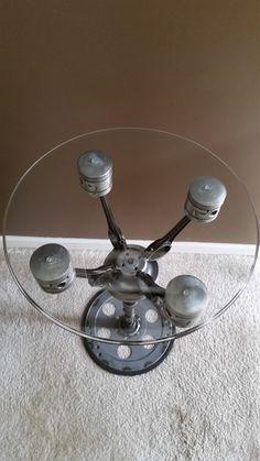 Flathead V8 Piston Table by CJ7Designs on Etsy