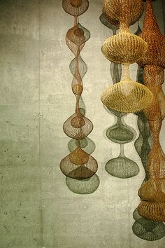 crocheted wire sculptures by Ruth Asawa.  (found via @Gemma Docherty Docherty Athena)