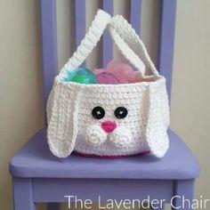Chubby Bunny Easter Basket Crochet Pattern