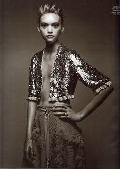 High fashion photo :: sequins