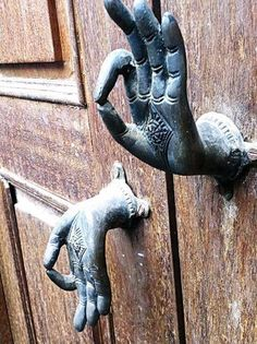 """""""The doors of opportunity open and close quietly. therefore listen intently"""" - Chris Mott Love these door handles Cool Doors, The Doors, Unique Doors, Windows And Doors, Front Doors, Sliding Doors, Door Knobs And Knockers, Knobs And Handles, Door Handles"""