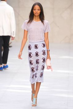 The Spring 2014 Runway Trend report is in. See all the biggest trends here. Burberry Spring 2014.