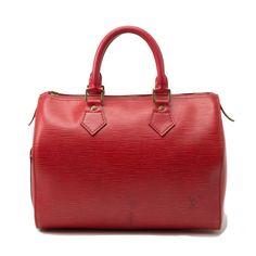 Red Leather Louis Vuitton Handbag.