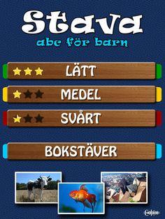 Stava - ABC för barn är en svensk skrivträningsapp med ljudning av bokstäver. Det finns tre svårighetsnivåer; lätt, medel och svårt. Stava abc för barn är