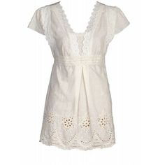 Cute white eyelet top