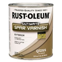 Get weather-resistant beauty with Rust-Oleum® Wood Care Ultimate Spar Varnish. This high-performing polyurethane is specially designed for wood projects requiring outdoor protection. Get exceptional weather and UV resistance in a water-based formula.