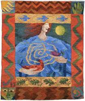 Turning Point; A Tapestry Weaving by Kirsten Glasbrook.