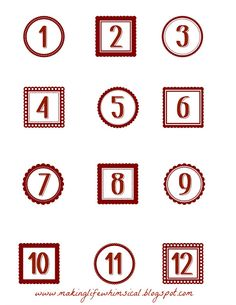 Free Christmas Countdown Tags   Ways To Embellish Them  Free