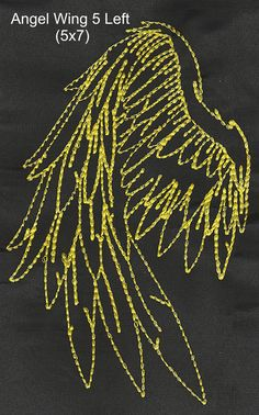 Angel Wings and Scripture Embroidery by EmbroiderByMADELEINE on Etsy Embroidery Art, Embroidery Designs, Gold Work, Diy Clothing, Angel Wings, Angels, Handmade Items, Patterns, Sewing