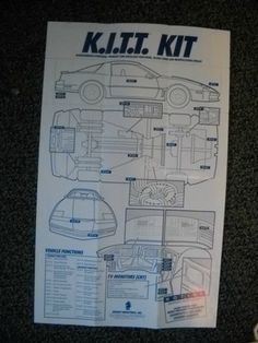 Ordered through male during the original series of Knight Rider. Kitt Knight Rider, Old Cars, Geek Stuff, Tv, Blog, Ebay, Autos, Geek Things, Television Set