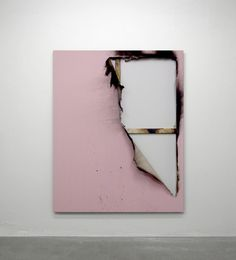 Pink abstract contemporary art by Kasper Sonne
