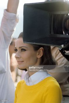 The actress Audrey Hepburn photographed by Pierluigi Praturlon in Grimaud, a village and commune located on the Côte d'Azur (known in English as French Riviera), in the Var départment of the Provence-Alpes-Côte d'Azur, region of southeastern France,...