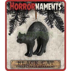 Black Cat Christmas Ornament - Horrornaments!