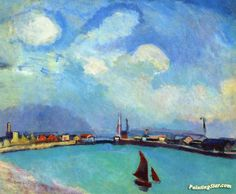 The Port Artwork by Raoul Dufy Hand-painted and Art Prints on canvas for sale,you can custom the size and frame