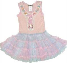 Little Mass Spring ``Seashell`` Tutu Dress *PREORDER*Sizes 4 - 14