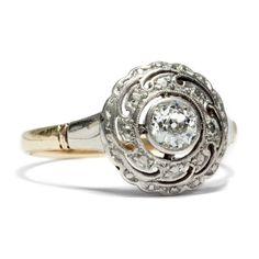 Willst Du mich heiraten? - Traumhafter antiker Solitär-Ring in Gold & Platin, um 1905