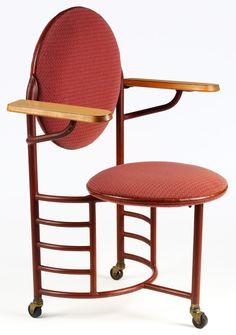 Desk chair, designed by Frank Lloyd Wright, 1936-7