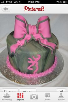 Hunting cake -  I like the way the camo is done on this one