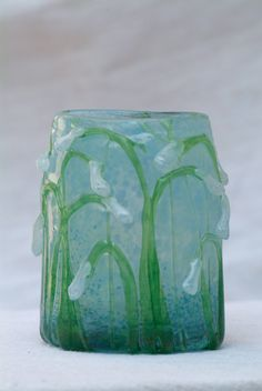 Art Of Glass, Glass Artwork, Glass Vase, Glass Ceramic, Vases, Stained Glass, Contemporary Art, Ceramics, Beautiful