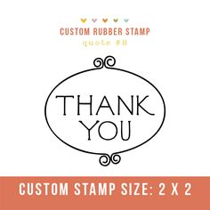 """Photography Stamp- """"thank you""""  Perfect for client packages and cute tags!"""