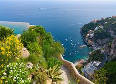 Monastero Santa Rosa Hotel & Spa Conca dei Marini, Italy outdoor tree water sky Nature Coast Sea vegetation mountain promontory reef mount scenery cape tourism bay plant aerial photography coastal and oceanic landforms bird's eye view inlet hill landscape overlooking City hillside beautiful bushes shore