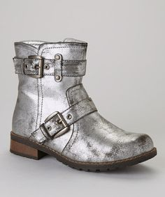 Look at this Jacobies Footwear Silver Pisa 30 Boot on today! Kids Clothesline, Silver Boots, Dressy Shoes, Cute Little Things, Fun Things, Shoe Boots, Shoe Bag, Shoe Deals, Blue Shoes
