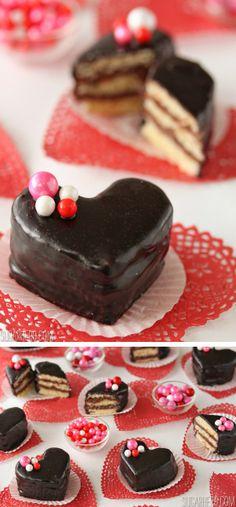 Nutella Pound Cake Petit Fours | From SugarHero.com