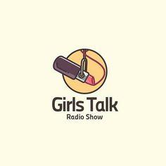 Girls Talk Radio show logo idea design made by @cpuentesdesign  #logoplace #designer #pixel #creative #icon #graphicdesign #creativity #flatdesign #adobe #illustrator #photoshop #branding #follow #photooftheday #picoftheday #girl #radio #show by logoplace