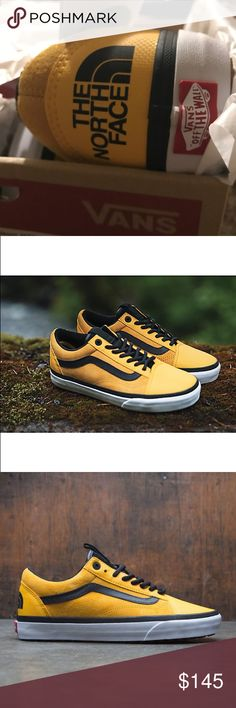 997d6c9099b6 Shop Men s Vans Yellow Black size 8 Sneakers at a discounted price at  Poshmark. Description  Vans x The North Face Old Skool MTE DX.