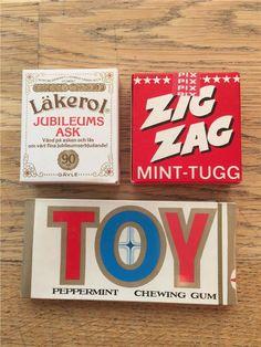 Toy Läkerol jubileum Zigzag Oöppnade förpackningar från 70-talet, ej streckkod