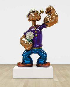 61/2 ft stainless steel figure of Popeye by Jeff Koons for a mere $25 million