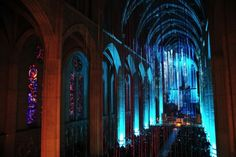 Graced With Light Installation in San Fransisco Cathedral