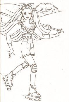 Miss Missy Paper Dolls Barbie Coloring Pages Part 2