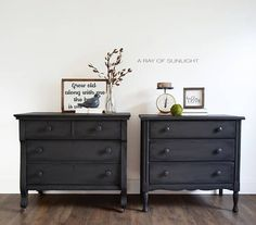gray dressers -painted dresser - painted furniture - painted nightstand