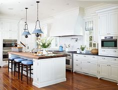 Beautiful Rooms Decorated in Blue and White - Traditional Home®  http://www.traditionalhome.com/design_decorating/howwelive/beautiful-blue-white-rooms_ss5.html#