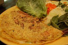 Vegan Banh Xeo Traditional Vietnamese Crepe