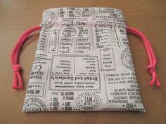 簡単!かわいい!!裏地付き巾着袋の作り方の作り方