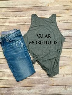 Valar Morhulis Tank  Game of Thrones Shirt  Winter by IndyRoseCo