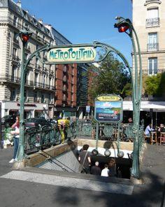 Paris, Métropolitain, Entrée de la station Parmentier, arch. Hector Guimard