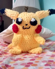 I made pikachu for Pokemon day! #pokemon20 #amigurumi #amigurumipikachu #pikachu #pokemon #pokemon20thanniversary #crochet #handmade by bamlink7733