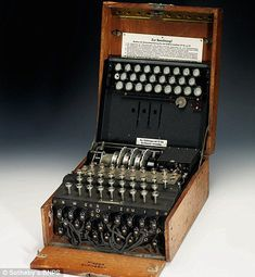 A fully-functioning enigma machine used by the Nazis to scramble coded messages during the Second World War has sold for Enigma Machine, Bletchley Park, The Imitation Game, Military Operations, Vintage Classics, World War Two, The 100, Messages, Mathematicians