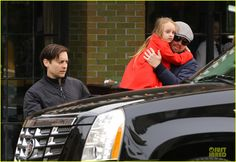 Leonardo DiCaprio Cares for Tobey Maguire's Daughter Ruby!: Photo Leonardo DiCaprio carries Tobey Maguire's adorable daughter Ruby with care while walking to an awaiting SUV on Saturday (November in New York City. Uncle Leo, Leonardo Dicapro, Young Leonardo Dicaprio, Celebs, Celebrities, Most Beautiful Man, Man Alive, Worlds Of Fun, Celebrity Pictures