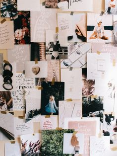 Beautiful Inspiration Board - Love The Layered Font And Blush Colours