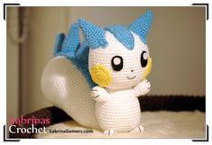 Patrón gratis amigurumi de Pachirisu de Pokemon Espero que os guste tanto como a mi! Idioma: Español Visto en la red y colgado en mi pagina. Patrón: