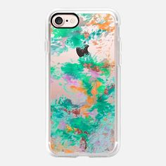 WHEN WE WERE MERMAIDS 3 - Colorful Pastel Orange Green Turquoise Abstract Art Painting Nature Swirls Autumn Fall Spring Floral Paradise Ocean - Classic Grip Case Floral Iphone Case, Slim Iphone Case, Iphone Case Covers, Green Turquoise, When Us, Swirls, Tech Accessories, Mermaids, Abstract Art