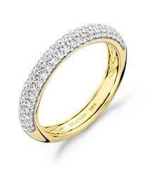 Deze 14 karaats geelgouden ring met zirkonia stenen is verkrijgbaar in de maten 50 t/m 58 #blush #strego #ring