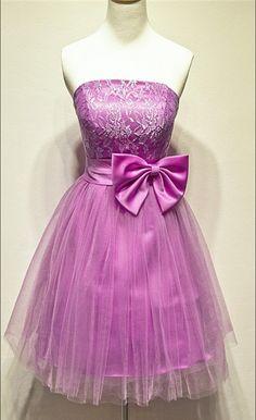 Aline Purple Homecoming Dresses,Hollow Sleeveless Tulle Strapless #Short Homecoming Dress#HomecomingDresses#Short PromDresses#Short CocktailDresses#HomecomingDresses